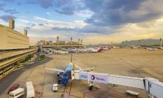 Movimento intenso. Aeroporto conta diariamente com cerca de 400 pousos e decolagens: nos jogos, haverá picos de 550