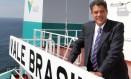 Roger Agnelli, ex-presidente da Vale, em visita ao navio Vale Brasil, encomendado na Coreia. Foto Divulgação/5-5-2011 Foto: Agência O Globo