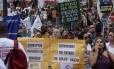 Servidores estaduais fazem manifestação em frente à Alerj na última quinta-feira
