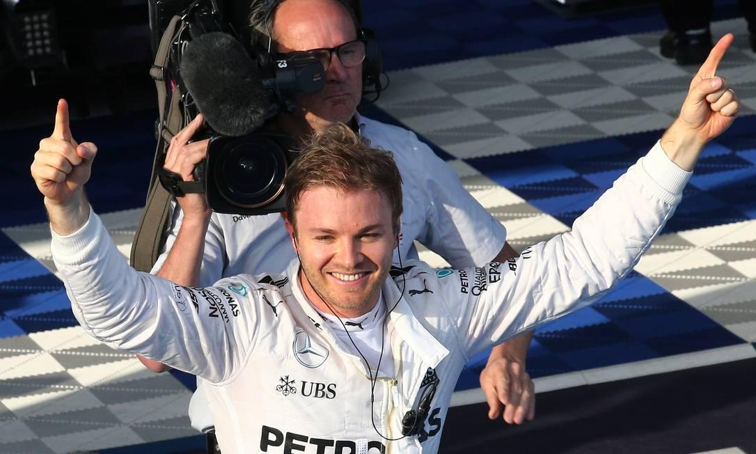 Nico Rosberg comemora a vitória no GP da Austrália Rob Griffith / AP