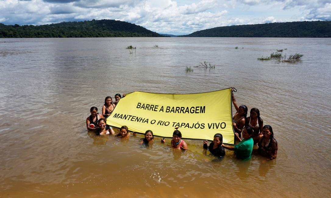Barragem atingiria parte das terras dos índios Munduruku Rogério Assis / © Rogério Assis / Greenpeace