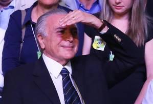 O vice-presidente, Michel Temer na convenção do PMDB Foto: Ailton de Freitas / Agência O Globo