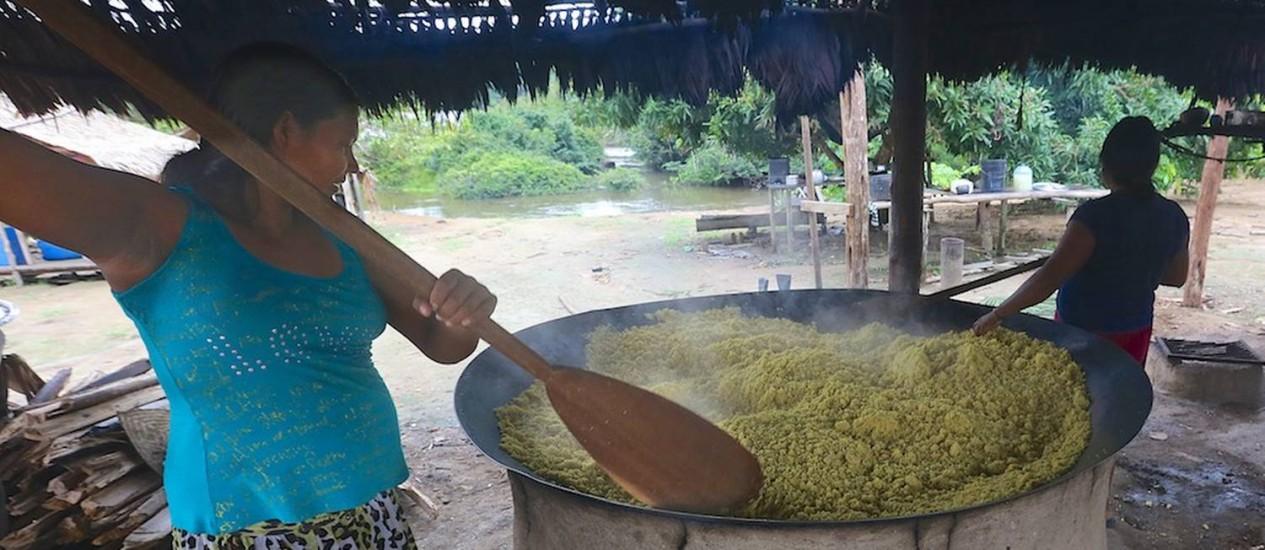 Uaiuais. Abandono de hábitos como a produção dos próprios alimentos pode causar problemas de saúde nos índios Foto: Divulgação