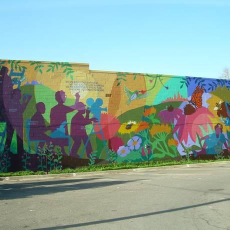 Um dos trabalhos feitos pelo artista, consagrado na pintura de murais Foto: Divulgação