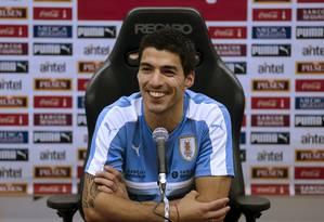 O atacante uruguaio Luis Suárez em foto de arquivo Foto: ANDRES STAPFF / REUTERS