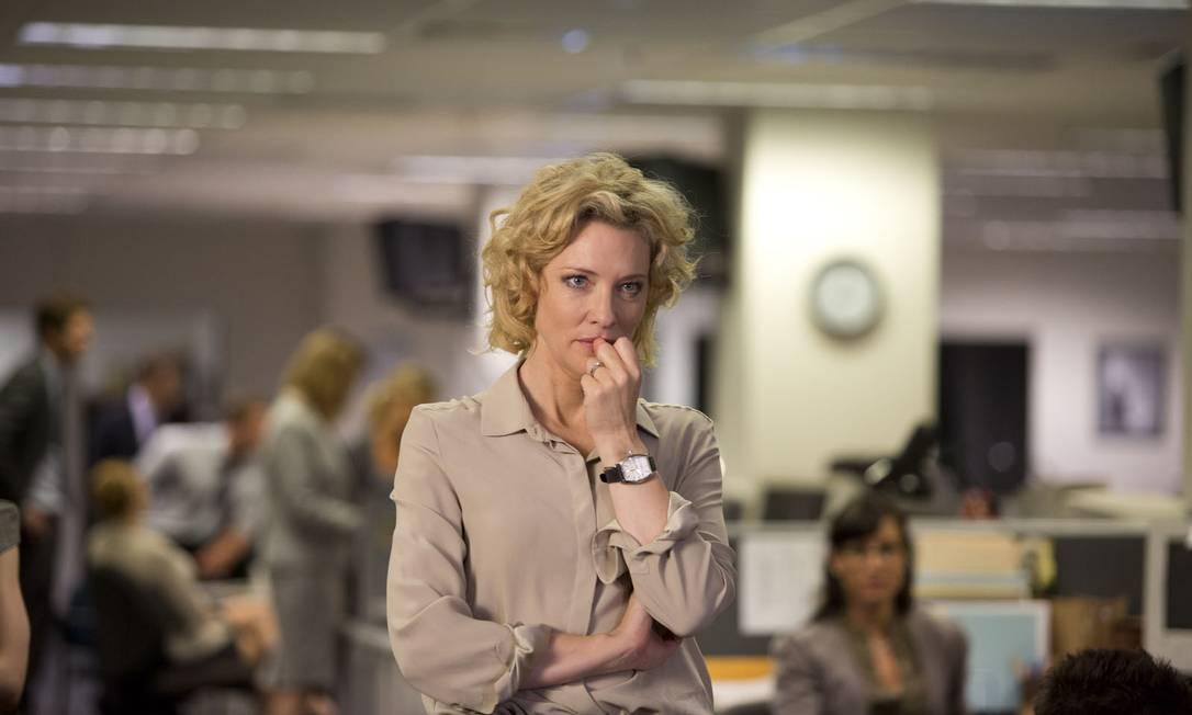 """""""Conspiração e poder"""": o filme estrelado por Cate Blanchett recompõe os bastidores de um dos maiores dramas do jornalismo americano na era Bush Foto: Divulgação"""