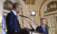 Presidentes Barack Obama e Mauricio Macri participam de entrevista coletiva na Casa Branca