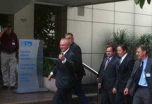 Temer evitou falar com a imprensa e apenas publicou um áudio ao término da visita Foto: Marco Grillo / Agência O Globo