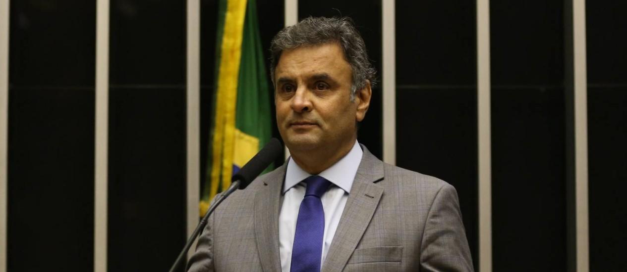 O senador Aécio Neves (PSDB-MG) Foto: Ailton de Freitas / O Globo 25/11/2014