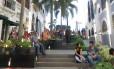 A escadaria é ponto de encontro na cidade de Villahermosa, em Tabasco