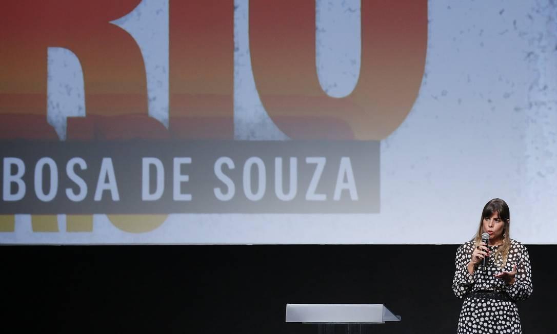 A juiza Daniela Barbosa Assumpção de Souza, da Vara de Execuções Penais, discursa depois de ganhar o prêmio de Rio Foto: Pablo Jacob / Agência O Globo