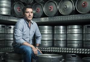 O empresário Marcelo Plácido investe em loja de chopes Foto: Leo Martins / Agência O Globo