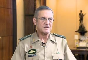 Comandante do Exército, general Eduardo Villas Bôas Foto: Reprodução