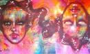 Mural pintado pela artista visual carioca, Panmela Castro, na Barnard College, em homenagem ao Dia Internacional da Mulher Foto: Reprodução / Reprodução