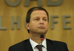 """O novo presidente da OAB acha """"completamente descabida"""" Foto: O GLOBO / André Coelho/17-3-2016"""