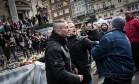 Clima ficou tenso no protesto Foto: Valentin Bianchi / AP