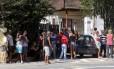 Manifestação contra a desocupação de casas no Jardim Botânico, na manhã desta segunda