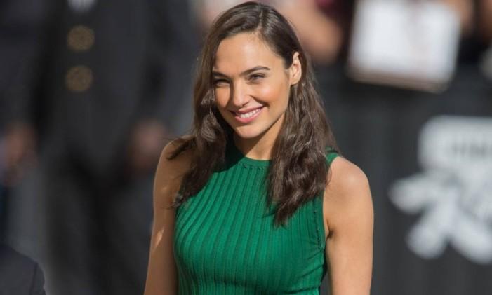 A atriz em participação no programa do apresentador Jimmy Kimmel Foto: Divulgação