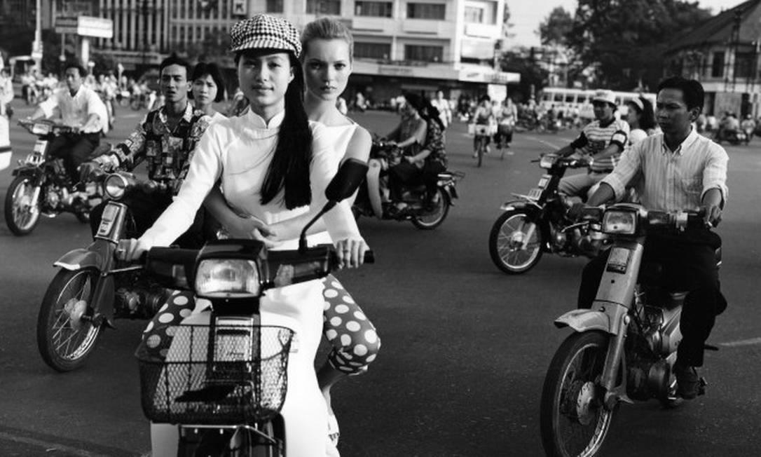 Kate Moss para a 'Vogue' Bruce Weber/Divulgação