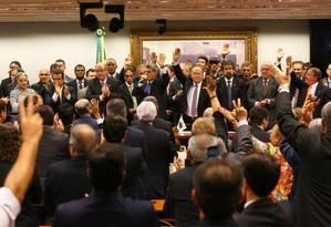 Em três minutos, reunião do PMDB decide pela saída do governo Dilma Foto: Aílton de Freitas