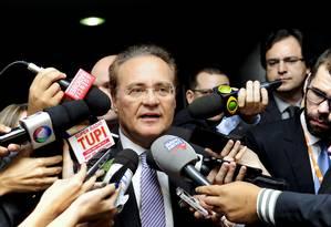 Senador Renan Calheiros durante entrevista nesta terça-feira Foto: Divulgação - Senado