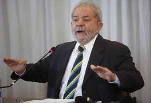 O ex-presidente Luiz Inácio Lula da Silva Foto: Andre Penner / AP 28/03/2016