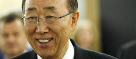 O secretário-geral da ONU, Ban Ki-moon, participa de conferência ministerial organizada pela ACNUR Foto: DENIS BALIBOUSE / REUTERS