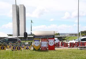Mapa de parlamentares que são a favor e contrários ao impeachment da presidente Dilma Foto: Ailton de Freitas / Agência O Globo