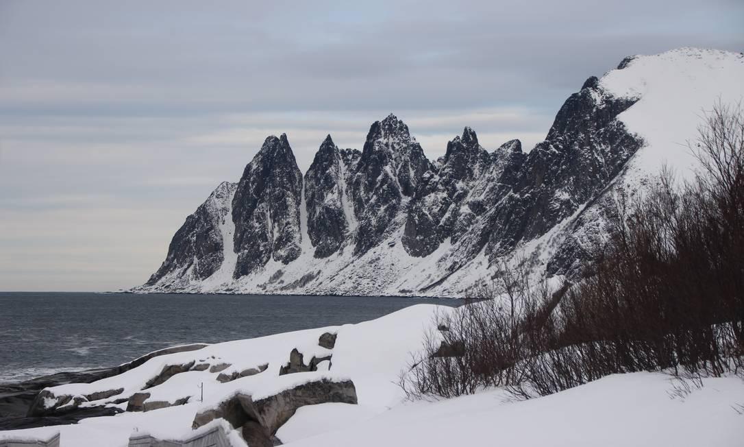 Paisagem de Senja, no norte da Noruega Foto: Eduardo Maia / Eduardo Maia