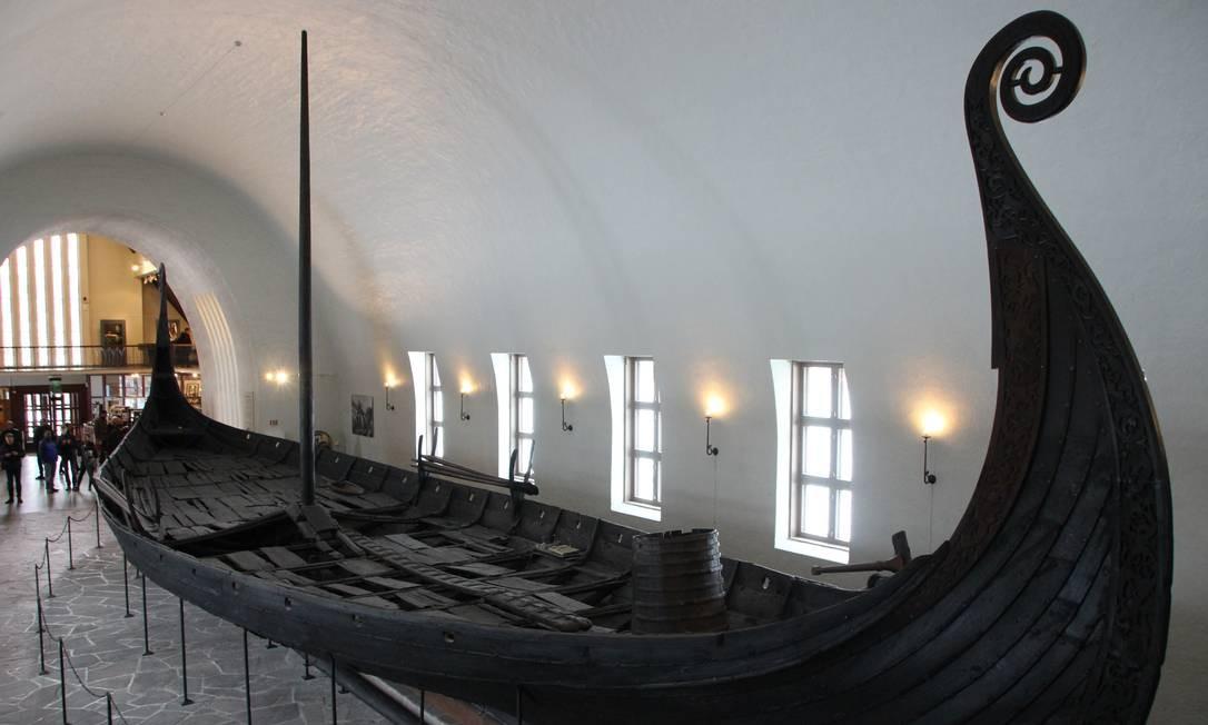 Museu do Barco Viking, em Oslo Foto: Eduardo Maia / Eduardo Maia
