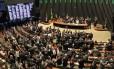 O plenário da Câmara dos Deputados na sessão do dia 17 de março, que aprovou a composição da comissão de impeachment
