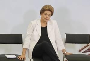 Dilma Rousseff, no Palácio do Planalto Foto: Givaldo Barbosa / Agência O Globo