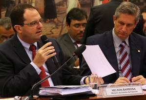 Governo não cometeu crime de responsabilidade fiscal, diz Barbosa Foto: Ailton de Freitas / Agência O Globo