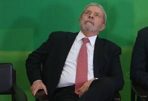 O ex-presidente Lula Foto: André Coelho / Agência O Globo