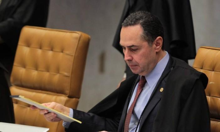 O ministro Luís Roberto Barroso, do Supremo Tribunal Federal (STF) Foto: Givaldo Barbosa / Agência O Globo