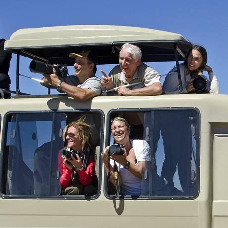 Grupo: turistas participam de viagem para a Etiópia Foto: Haroldo Castro / Viajologia