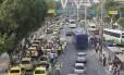 A manifestação começou de madrugada em vários pontos do Rio