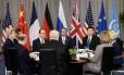 Obama, ao centro, na reunião de cúpula sobre segurança nuclear: inventário