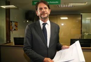 O ex-governador do Ceará, Cid Gomes protocola pedido de impeachment do vice-presidente da República, Michel Temer Foto: Ailton de Freitas / Agência O Globo