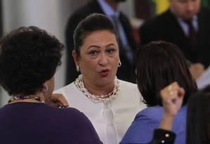 A ministra da Agricultura, Kátia Abreu Foto: Givaldo Barbosa / Agência O Globo / 30-3-2016