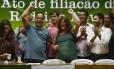 O prefeito Rodrigo Neves na filiação ao PV: semana passada, três partidos oficializaram apoio à sua reeleição