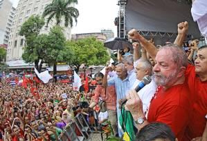Lula discursa em palanque em Fortaleza Foto: Divulgação / Instituto Lula