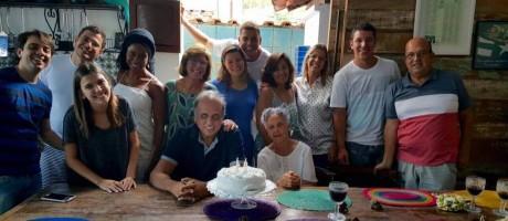 RI - Pezão posta foto em aniversário com a mãe Foto: Reprodução facebook