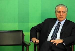 Vice-presidente da República, Michel Temer Foto: Givaldo Barbosa / Givaldo Barbosa/2-3-2016
