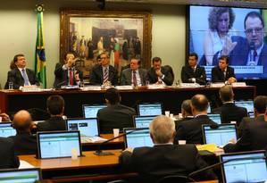 Comissão do impeachment: ministro Nelson Barbosa falou a parlamentares na quinta-feira, dia 31 de março Foto: Ailton de Freitas / Agência O Globo