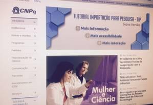 Bolsas de pós-graduação foram suspensas pelo CNPq Foto: Reprodução