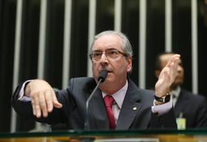 Cunha vai recorrer da decisão de mnistro do STF que obriga a instalar comissão de impeachment contra o vice, Michel Temer Foto: Ailton Freitas / Agência O Globo