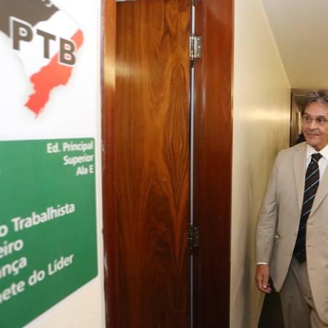 O ex-deputado Roberto Jefferson visita o Congresso Nacional Foto: Andre Coelho / Agência O Globo