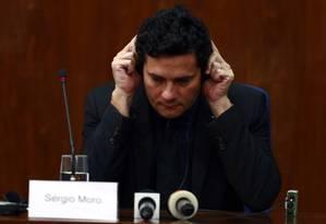 O juiz Sérgio Moro, responsável pelos processos da Lava Jato Foto: Edilson Dantas / Agência O Globo