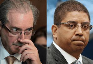 O deputado Eduardo Cunha (PMDB-RJ) e o empresário Leonardo Meirelles Foto: Montagem/O GLOBO